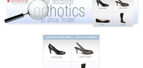 Docpods Shoe Orthotic Finder Facebook Application