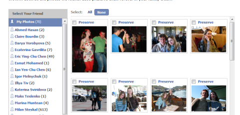 Family Photo Finder Facebook Application