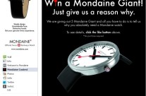 Facebook Contest for a Swiss Watch Brand